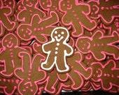One Dozen Smiling Happy Gingerbread Men