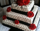 SALE Fondant Wedding Cake Designed JUST for YOU (Local Only)