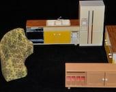 Retro 70's Funky Vintage Dollhouse Furniture Lot
