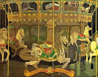 Dentzel Carousel at Rock Springs Park, c. 1930 Print