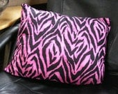 Get Wild Hot Pink and Black Accent Pillow