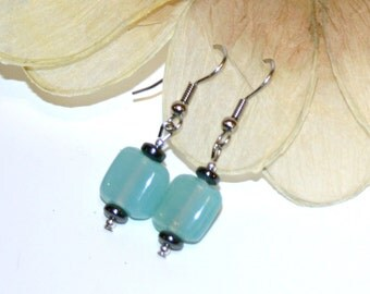Gorgeous Teal Square Shaped Earrings