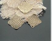 4pcs antique bronze little letter envelope lfinding charm f0020