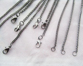 30pcs black chain necklace withe lobster clasp c001