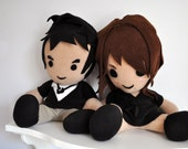 Customized Couple Plush Dolls - Reserved for Sheila
