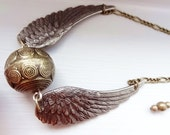 FREE SHIPPING golden snitch necklace Harry Potter inspired