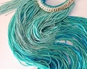 FREE SHIPPING chain fringe necklace in Arial the little mermaid
