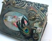 Steampunk, Alice in Wonderland Altered Book SALE / REDUCED 25% OFF