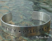 3 word - adult or childs size -name personalised bangle - MADE TO ORDER