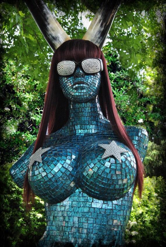 """Glass mosaic sculpture, """"Venus Envy""""."""