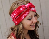 Red Tie Dye Upcycled headband