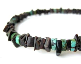 Mens necklace - surfer jewelry - Sky Sliver