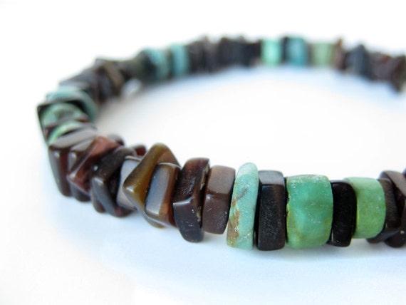 Men's beaded bracelet - shell bracelet for men - Sky Sliver