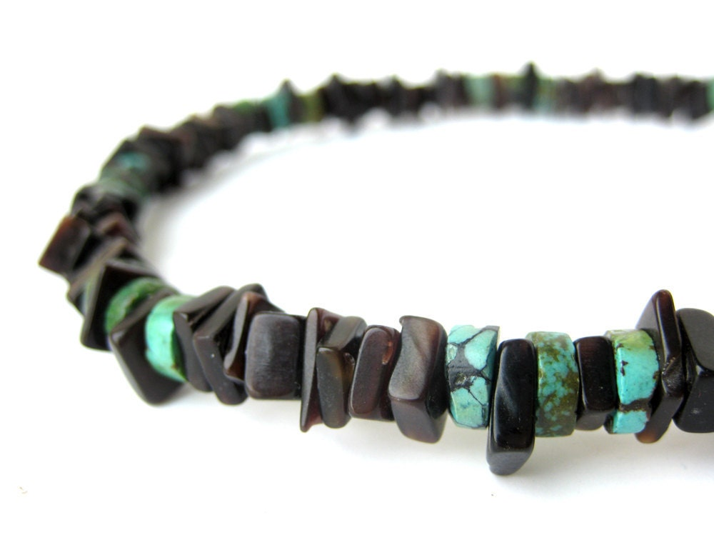 Black Shell Necklace For Men Surfer Jewelry Sky By