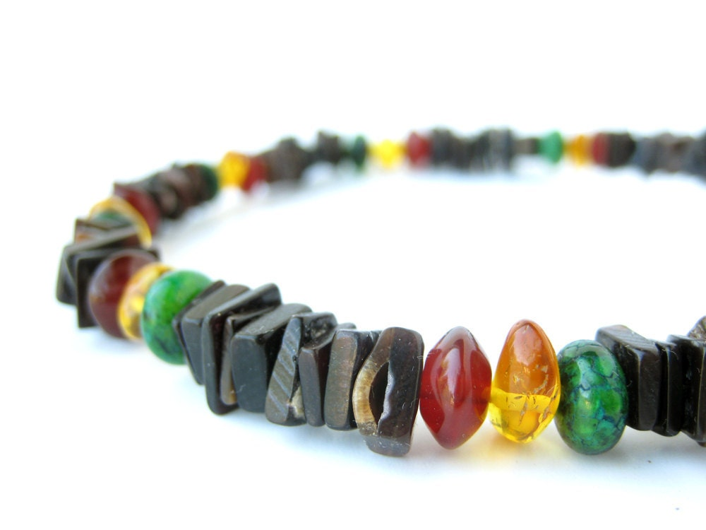 s jewelry rasta necklace for black shell and