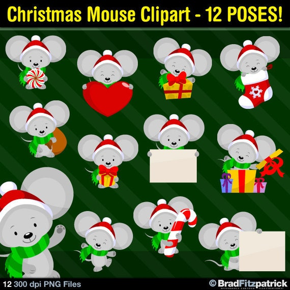 christmas mouse clipart - photo #38