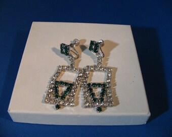 Crazy gorgeous rhinestone earrings