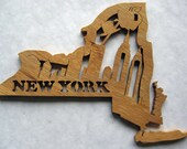New York State Decorative Wood Wall Hanging, Trivet, Unique Gift