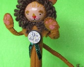 Courageous Lion Cake Topper Doll