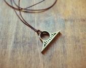 Golden Gate Bridge Ring Necklace