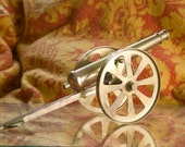 Miniature BRASS Loadable Vintage CANNON
