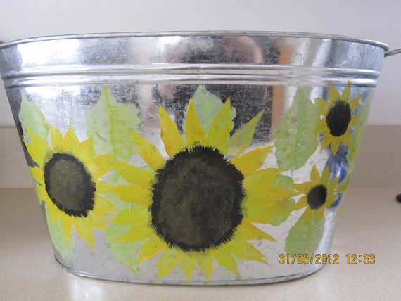 Tin with Sunflowers
