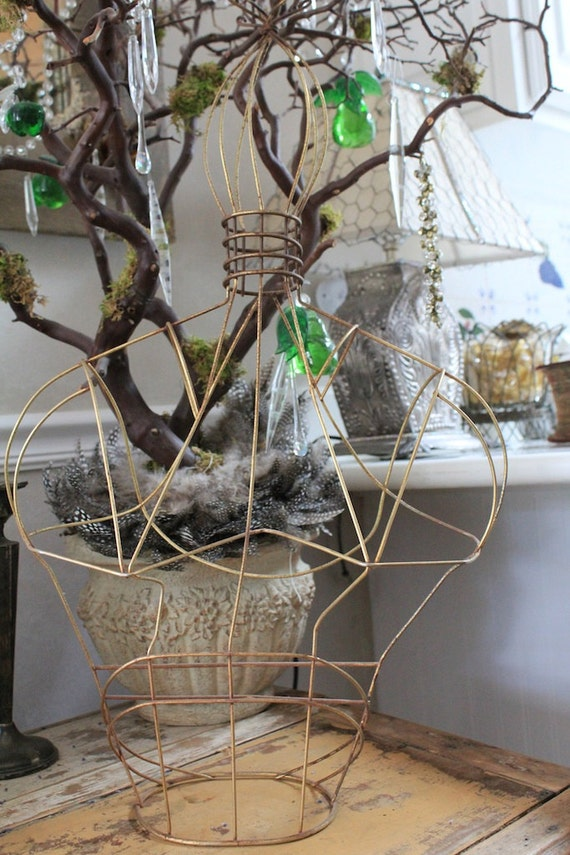 Vintage Wire Mannequin with Fantastic Top Piece