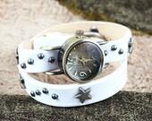 Jewelry watch, Personalized, women accessories,wrist watch,classical ,natural leather , bracelet watch, Original Japan Core,WN11