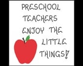 Preschool Teacher Magnet Quote, Pre-K, nursery school educators, red apple