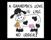 Grandma Magnet - Grandmother Quote, humorous saying, Oma, Granny, Grammy, love, cow, bell