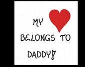 Magnet -  Dad, Quote, Daddy, Father, Pop, Parent, red heart