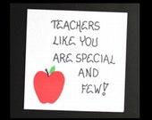 Special Teacher Fridge Magnet - Quote, educator, instructor, teaching, red apple
