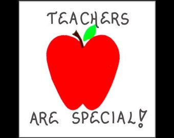 Teachers Quote Gift Magnet - For those who teach, who love teaching.  Red Apple Design