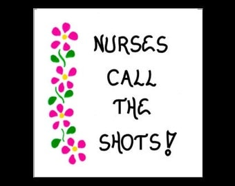 Gift for nurse, refrigerator Magnet, handcrafted, Nursing quote, medical field, illustrated with pink flower design