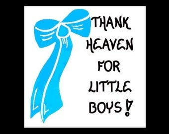 Quote About Baby Boy - Fridge Magnet  - Gift for new infants, babies, blue bow design