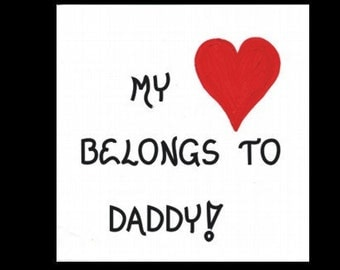 Magnet - Dad Quote, Daddy, Father, Pop, red heart