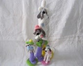 FIVE DOGS - Needle Felted Sculpture
