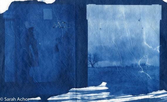 A Faded History, cyanotype, scanned digital print