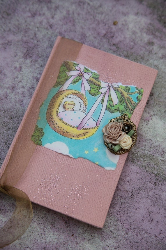 Custom  Baby Pregnancy Mom To Be Hand Painted Journal/Diary/Sketchbook