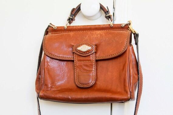 High Tea Prep Style Tan Leather Handbag
