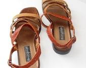 Sz 8.5 Vintage Woven summer Sandals