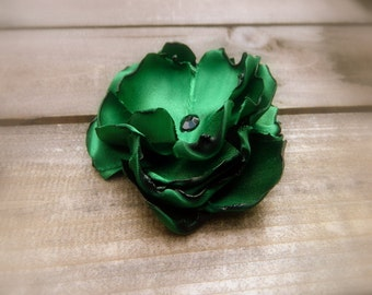 Emerald City, Wedding Flower Hair Clip- Green Flower Hair Pins- Bridal Accessories