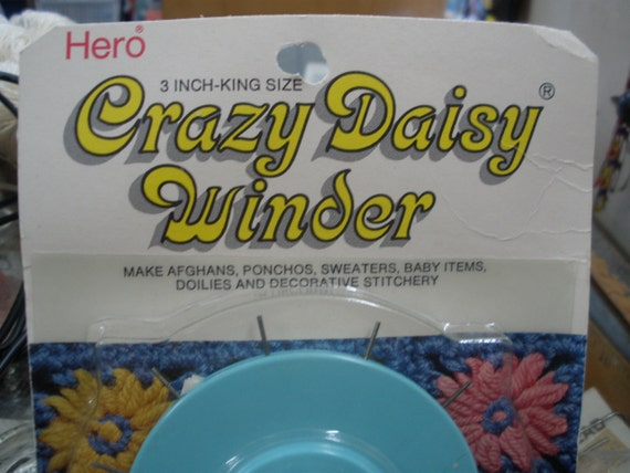 Scovill Hero Crazy Daisy Winder 3 Inch -King Size Item No. 7651 make crochet-look flowers Cuts Crochet Time in Half Made in USA