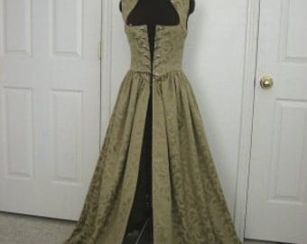 Sage Renaissance Over Gown Dress Made to Fit you!!! Limited RUN!