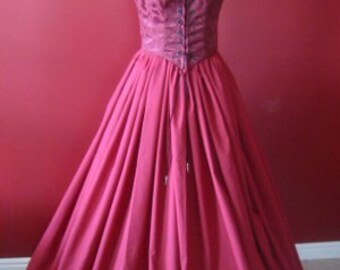 Burgundy Wine Renaissance Bodice and Skirt Dress or Costume made for you