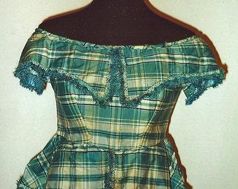 1850s Cotton bodice