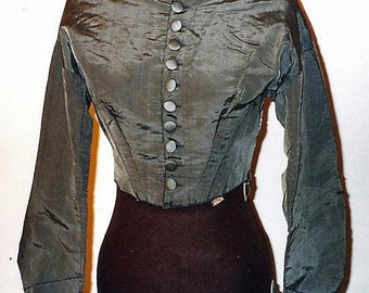 Civil War Elephant Gray silk bodice