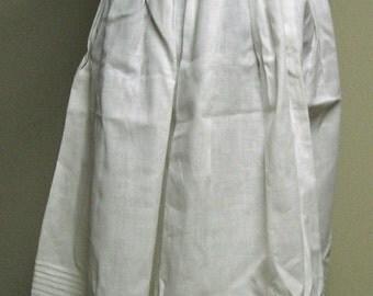 Mid-19th Century White Cotton Underpetticoat