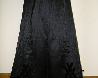 Black Edwardian Silk skirt