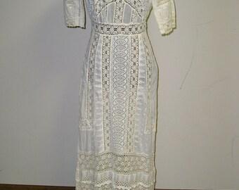 Edwardian eyelet dress